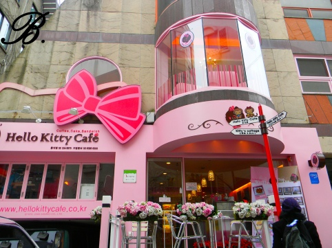 hello kitty cafe hongdae old exterior