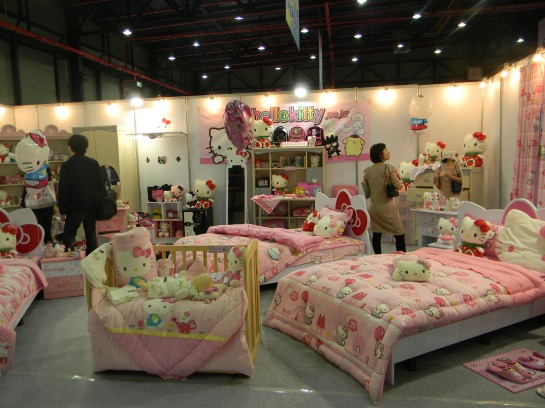 Hello Kitty bedroom'