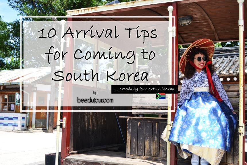 10 arrivals for south korea