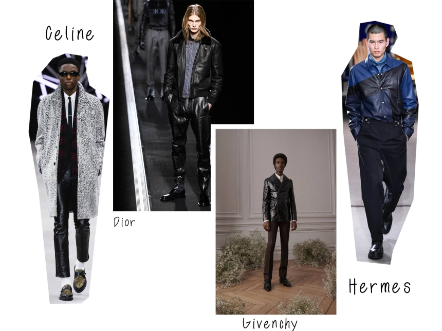 mens aw19 leather trend