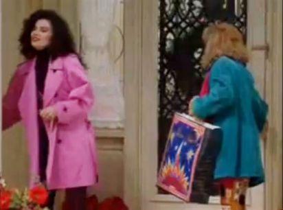 nanny pink coat