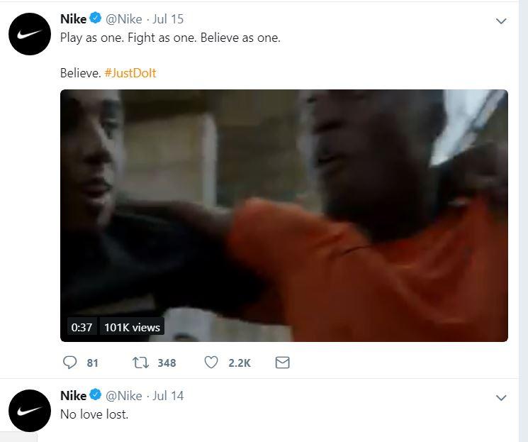 nike twitter feed