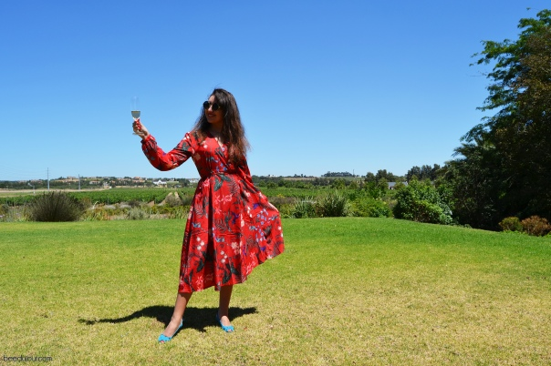 red floral dress vale de vie