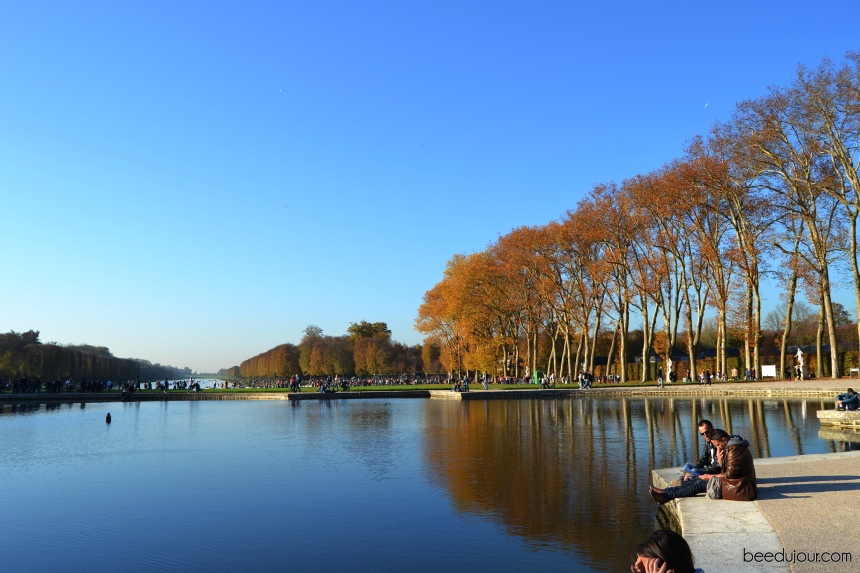 versailles garden in autumn