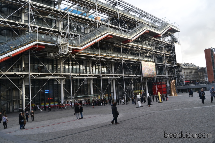 winter in paris centre pompidou