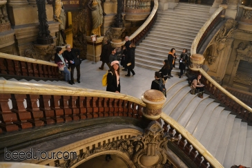 winter in paris opera stairs