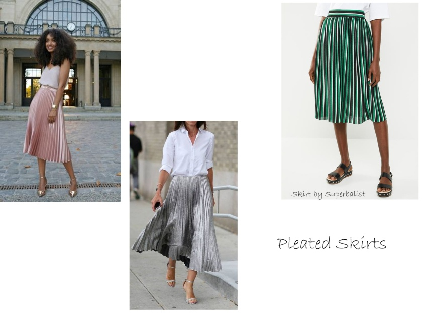 sa trends pleated skirts