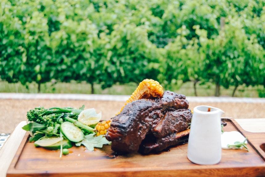 pink valley wines menu main beef rib