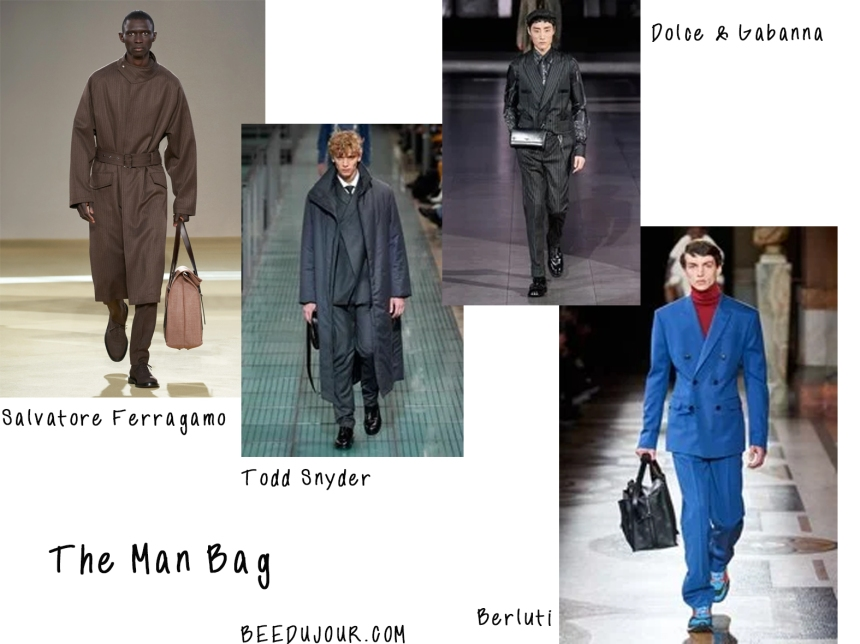 men fashion week 2020 man bag